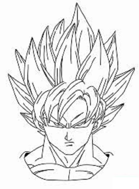 DESENHOS PARA COLORIR: GOKU - Dragon Ball Z