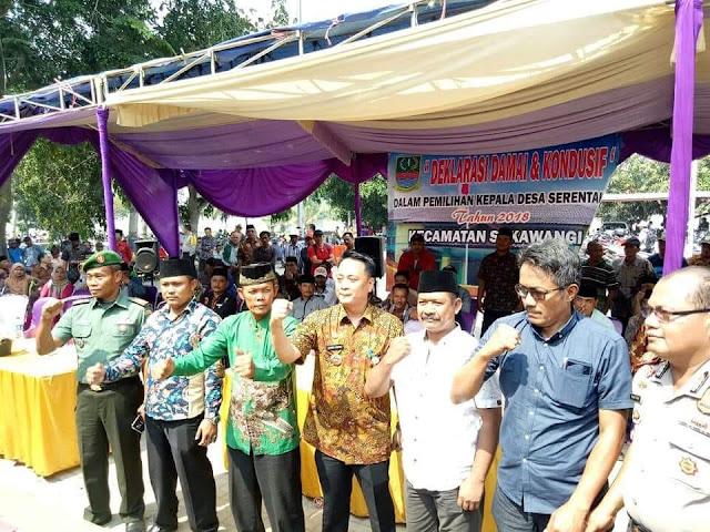 25 Calkades di Sukawangi Tandatangani Deklarasi Pilkades Damai
