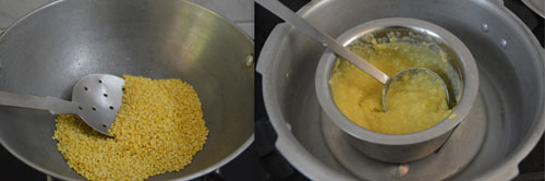 cooked moong dal