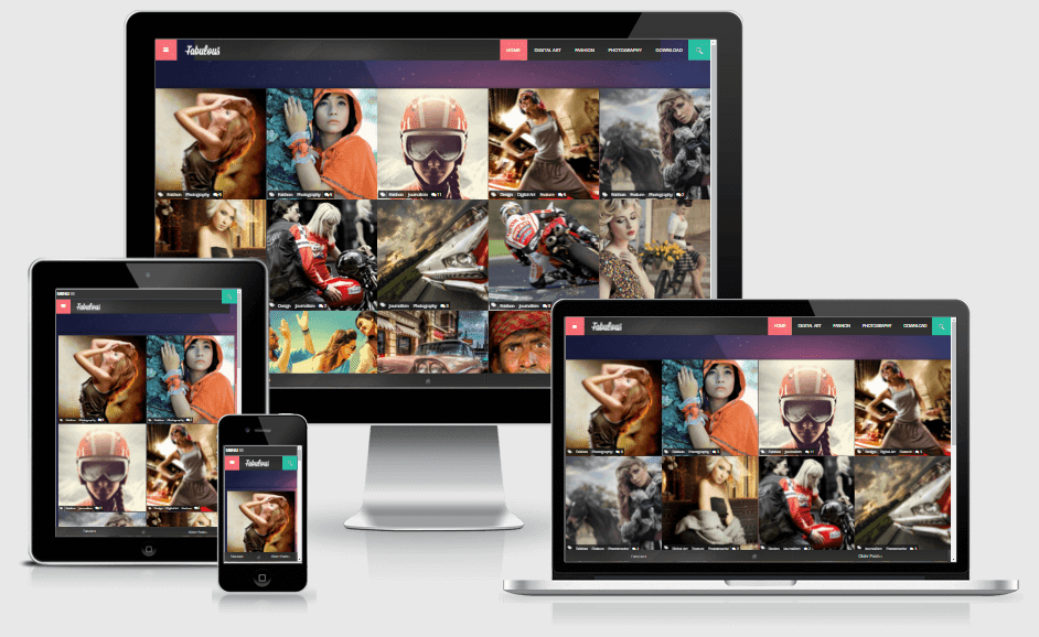 Fabulous - Responsive Photography Blogger Template