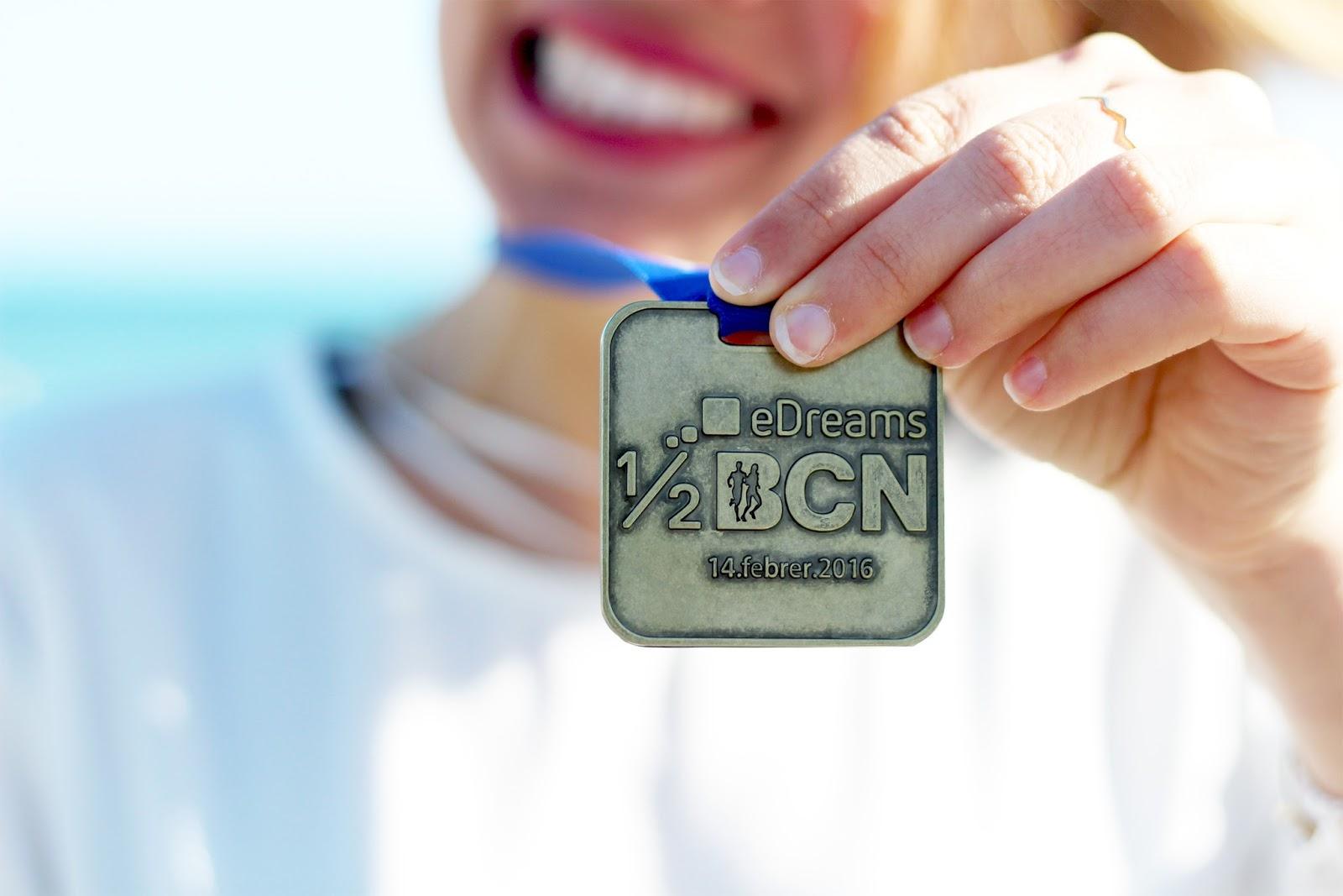 Médaille semi marathon barcelone