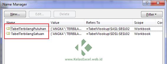 Named Range Terbilang Vlookup Excel