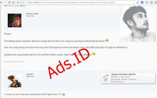 apakah safelink aman untuk adsense ads.id