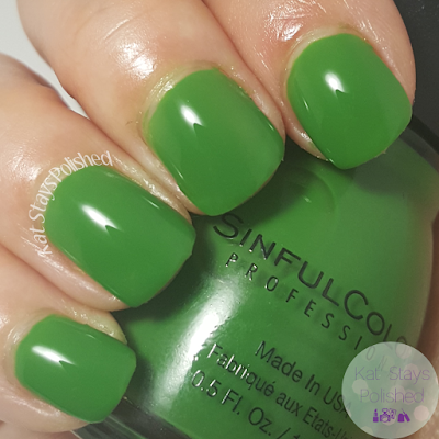 SinfulColors St. Patrick's Day 2016 - Exotic Green | Kat Stays Polished