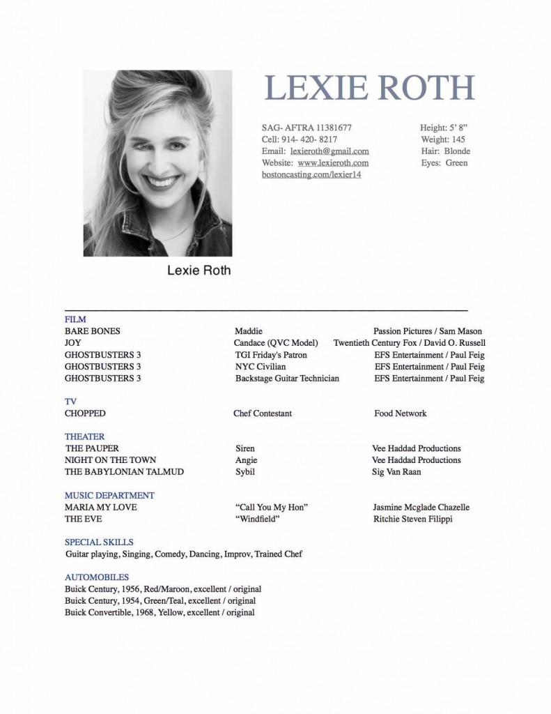 musician resume sample sample resumes - Sample Musical Theatre Resume