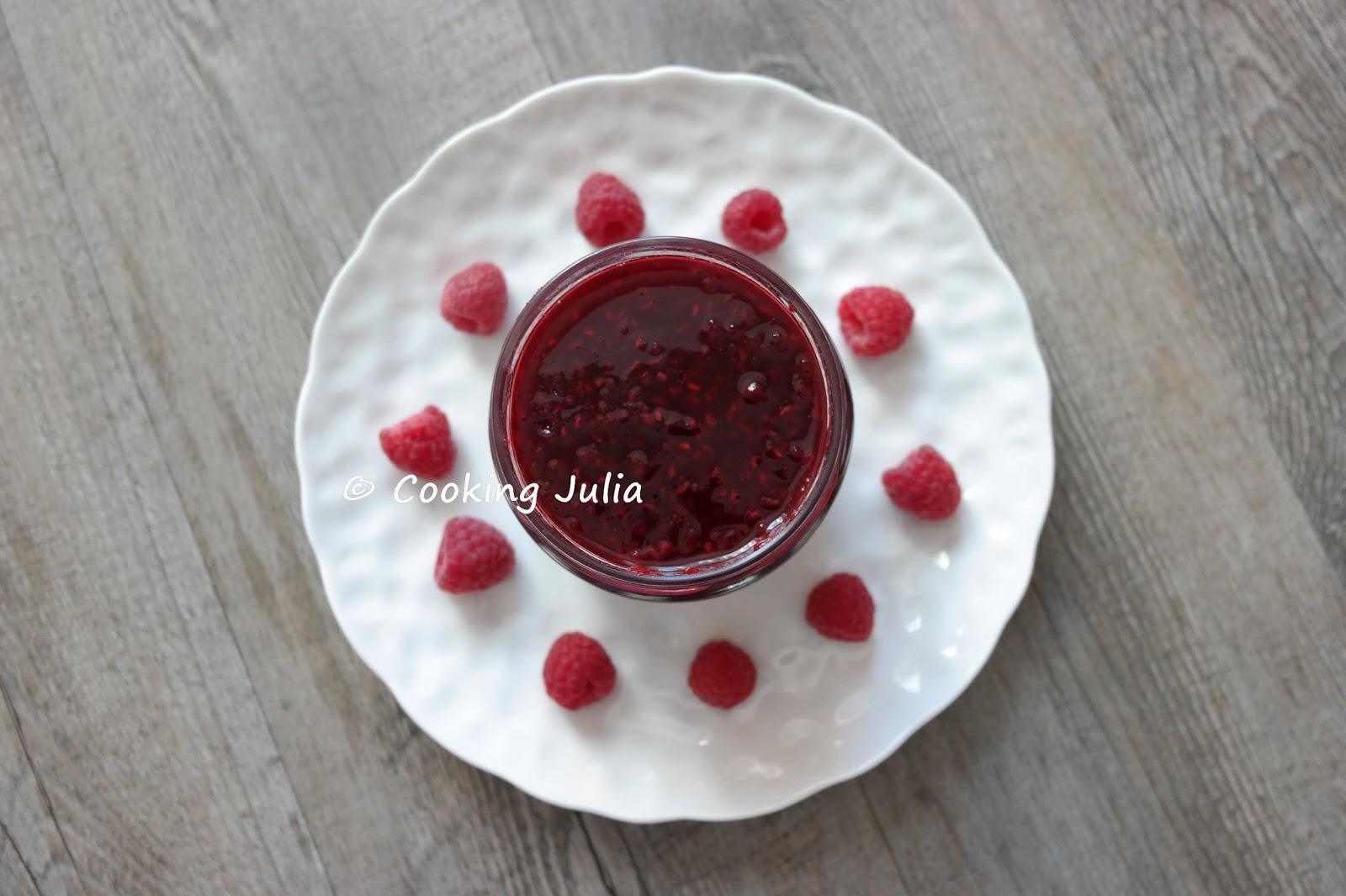 Cooking Julia Confiture De Framboises Au Micro Ondes