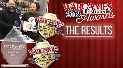 Wargames Illustrated, Awards Results 2018