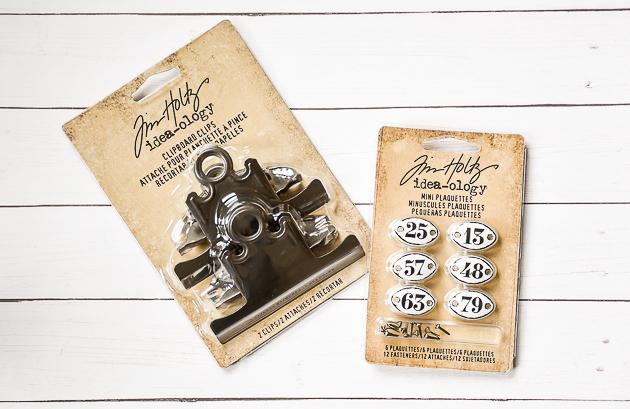 Michael's craft store, metal clips, metal numbers, vintage