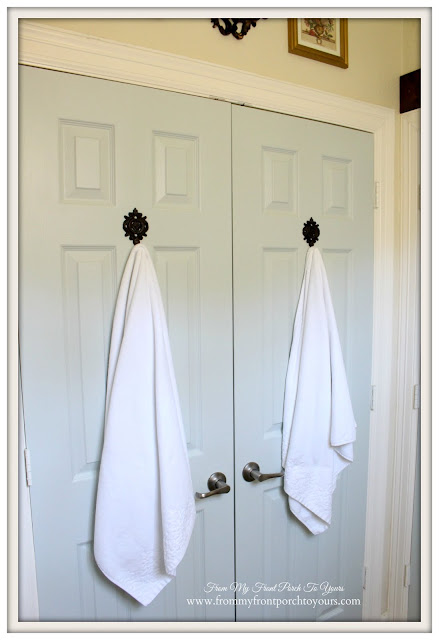 Farmhouse Guest Bathroom- Sherwin Williams-Sea Salt-From My Front Porch To Yours