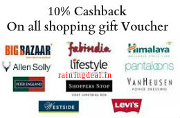 Shopping Gift Vouchers All Brands Flat 10% Cashback at Nearbuy (New user)