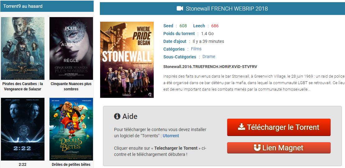 Le site de téléchargement Torrent9 progresse à très grande vitesse dans le  classement des sites de téléchargement de torrent français les plus  populaires. 2faea0372a65