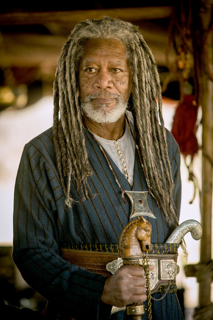 Morgan Freeman z dredami w filmie Ben Hur