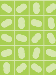 繭と蔟(まぶし)をイメージしたパターン柄