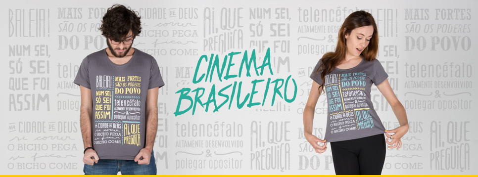 Conheça nossa Camiseta e Bolsa do Cinema Nacional na  Loja365  985c6642147