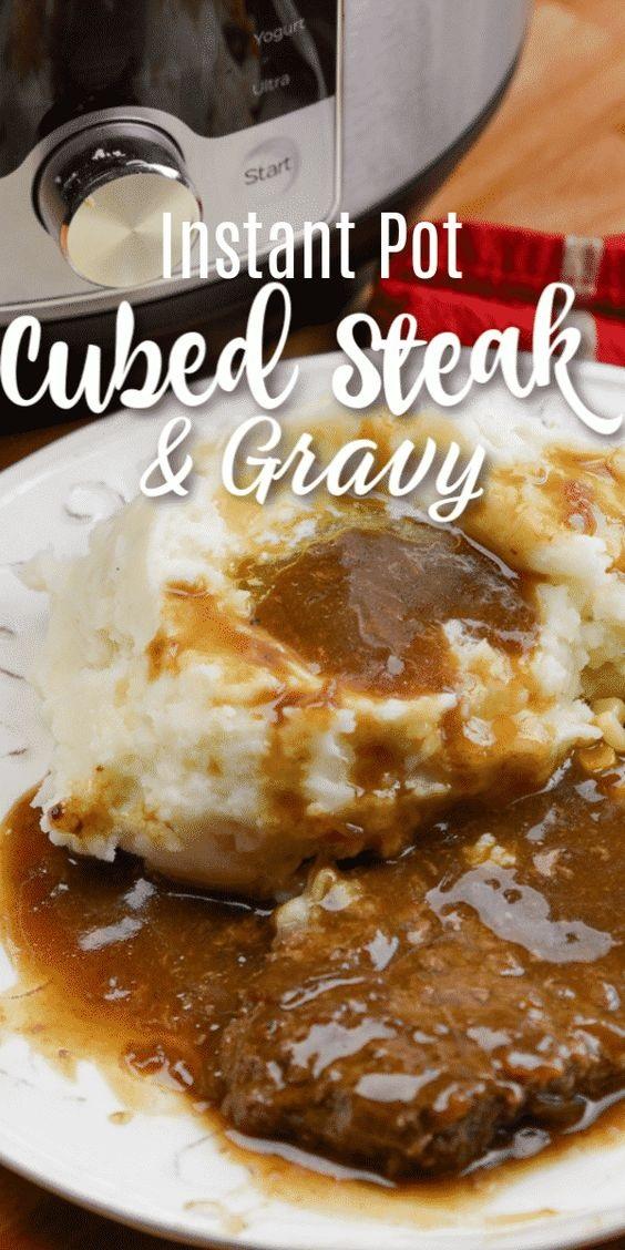 Instant Pot Cubed Steak and Gravy