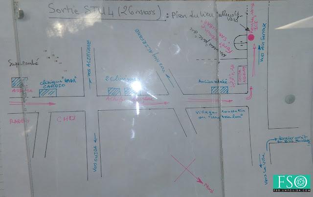 STU S4 : Plan du lieu de la sortie de 26 mars