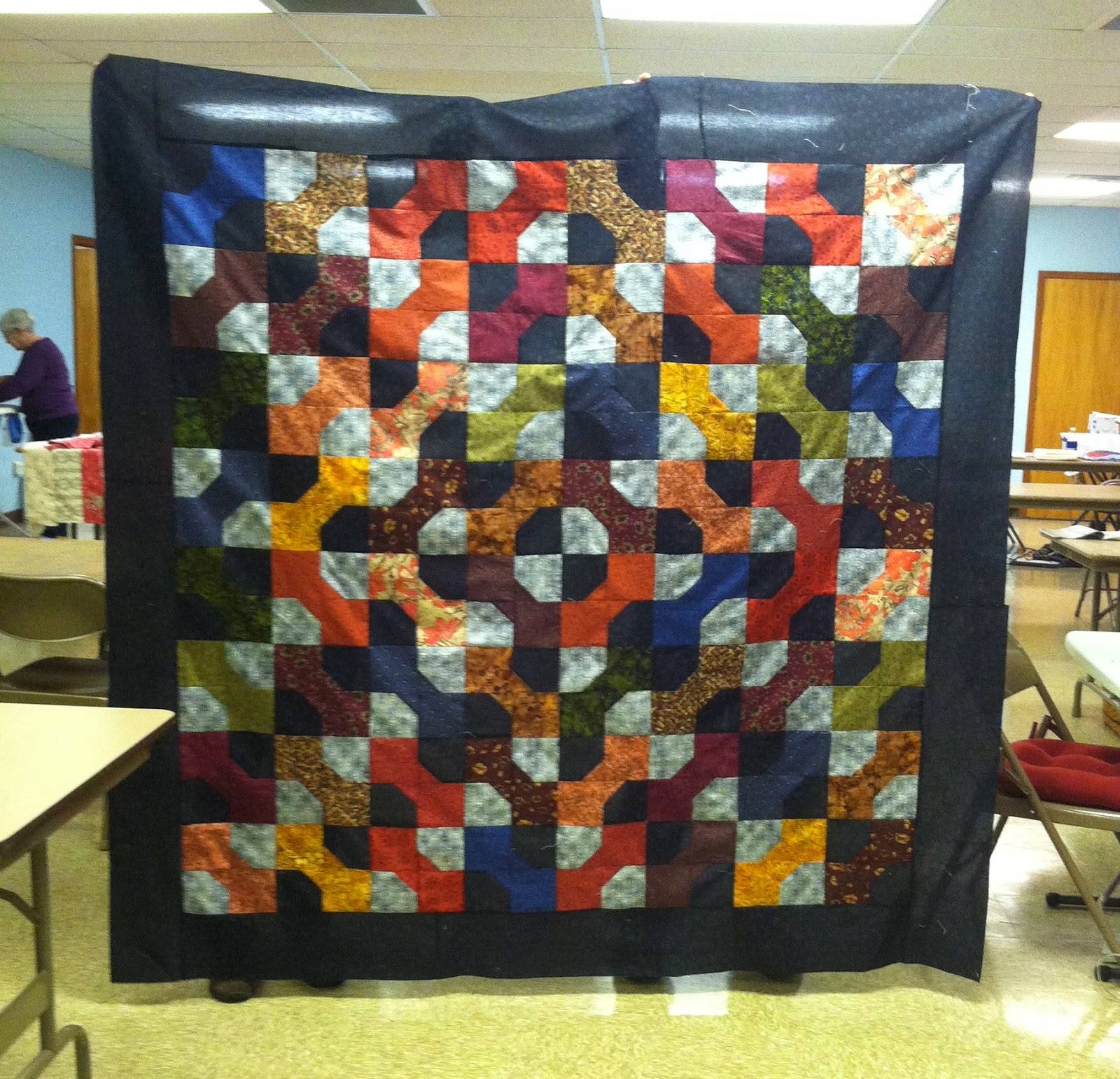 Old Bags Day - Sewing with Friends - Great Scrappy Quilt
