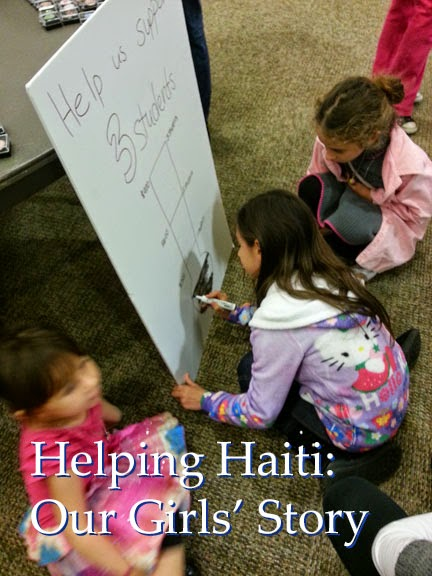 Helping Haiti: Our Junior Girl Scouts' jewelry badge project earned enough to sponsor two students for a year in Haiti.