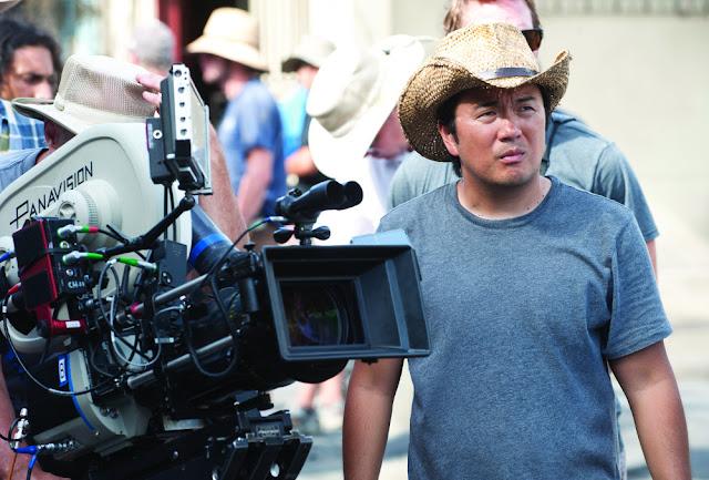 Reżyser Justin Lin na planie filmu