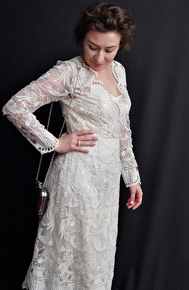 @adrianastyle_stylist, Cream Lace Dress, Fashion, Kobiecość, Kremowa Koronkowa Sukienka Vintage, moda, Retro Girl, Retro Style, Styl Retro, Stylizacja, Vintage Dress, www.adriana-style.com, blog modowy Puławy
