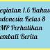 Kegiatan 1.6 Bahasa Indonesia Kelas 8 SMP Perhatikan Kembali Berita