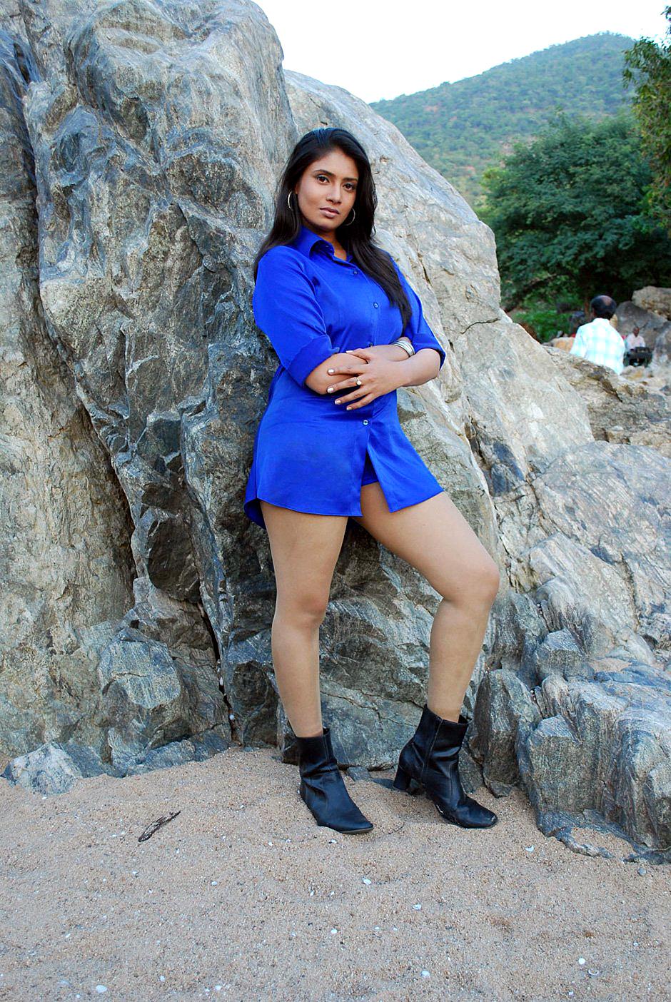 Sexy & glamorous Sangavi latest hot stills in blue