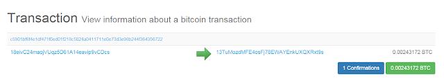 Bukti PO bitcoin di OXBTC CloudHash