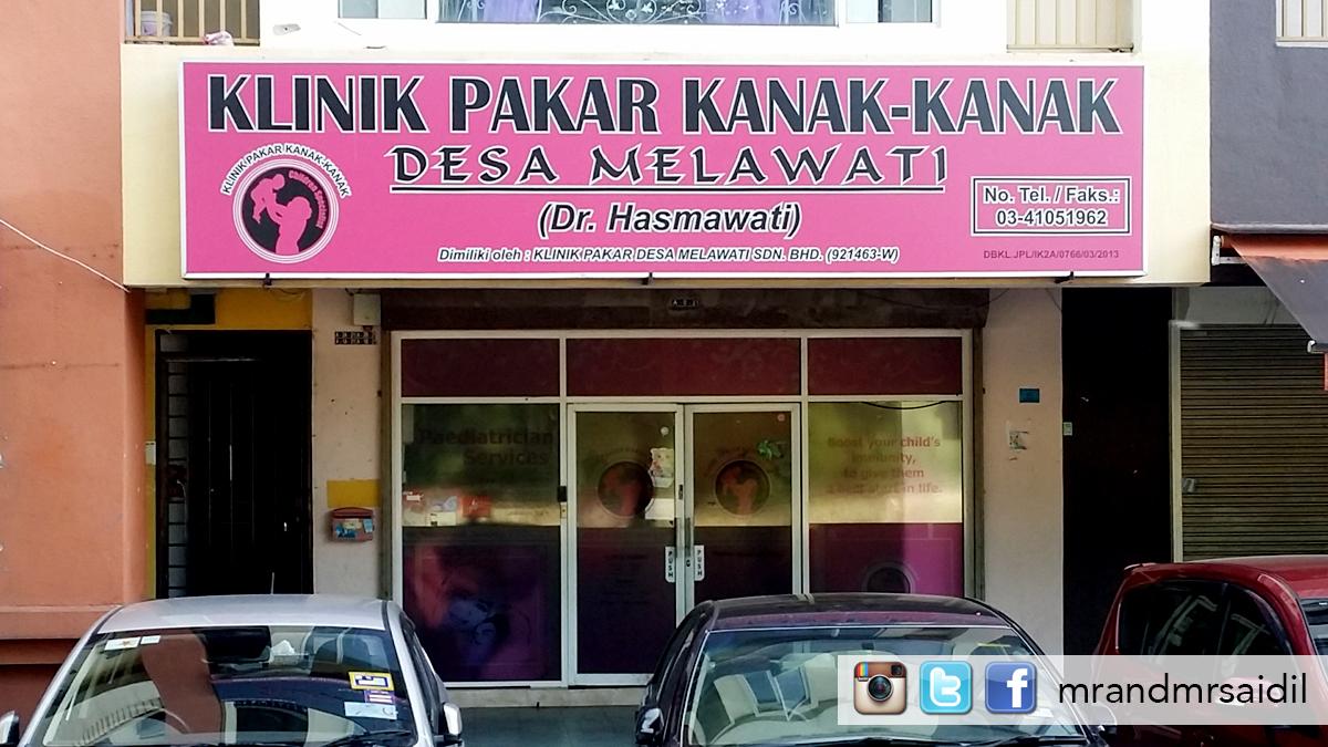 Mrandmrsaidil Klinik Pakar Kanak Kanak Desa Melawati Dr Hasmawati