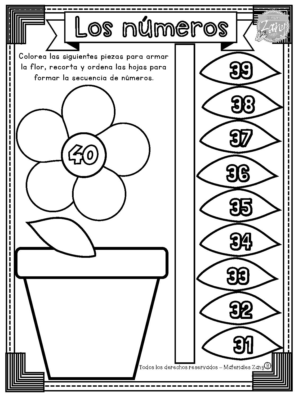 Flores con números del 1 al 100 | Materiales Zany