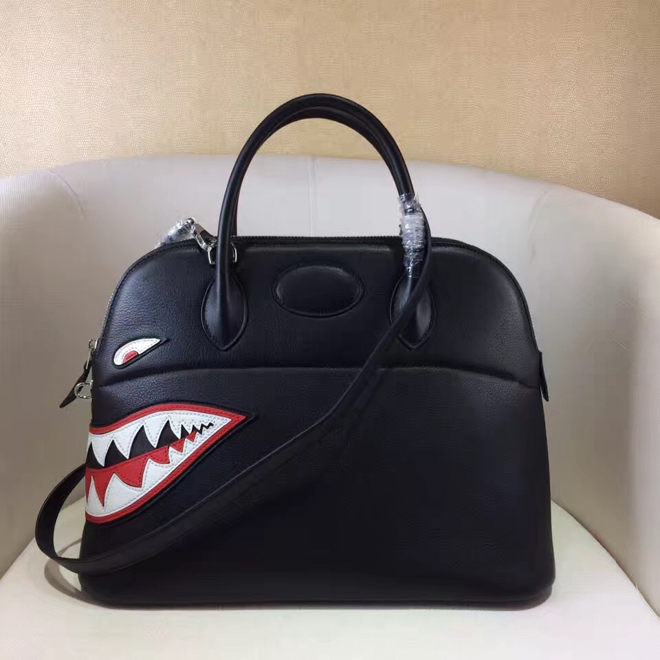 b2c8f69366e0 ... greece hermes bolide shark swift with longstrap half handmade  handstitches mirror original leather bag 4c964 f7fc3