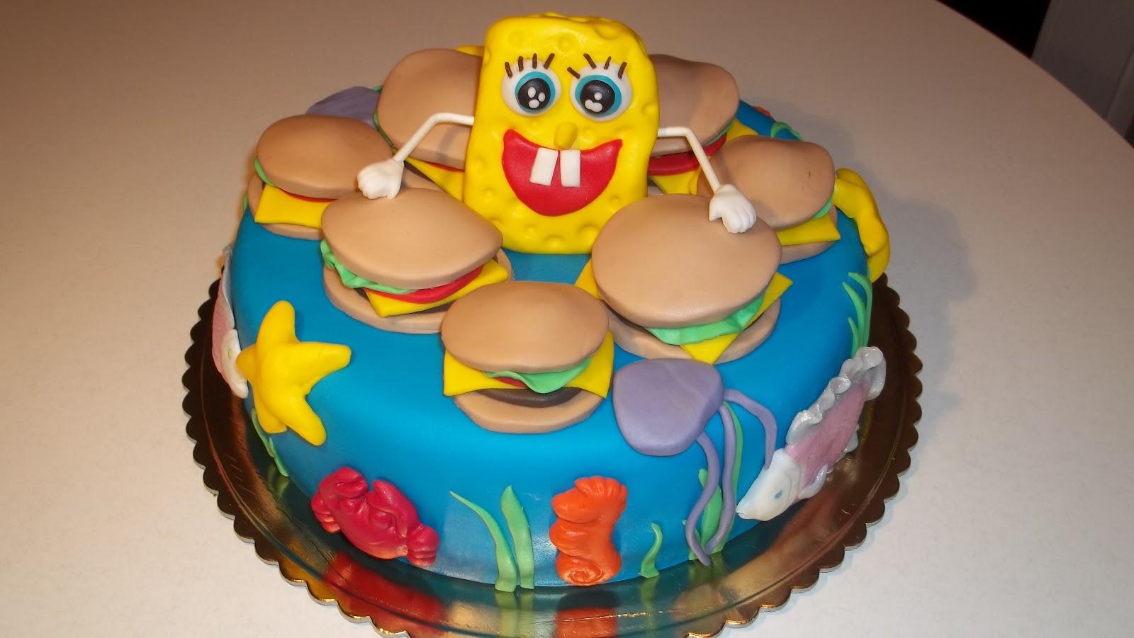 Torten Design Atelier N133 Spongebob Schwammkopf