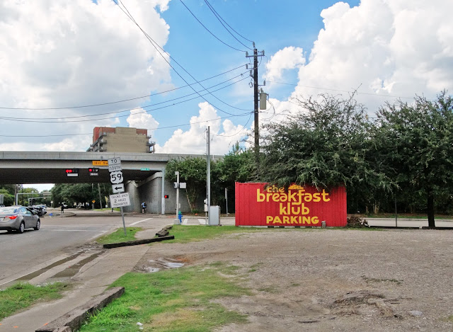 The Breakfast Klub parking lot on Alabama Street at Travis St