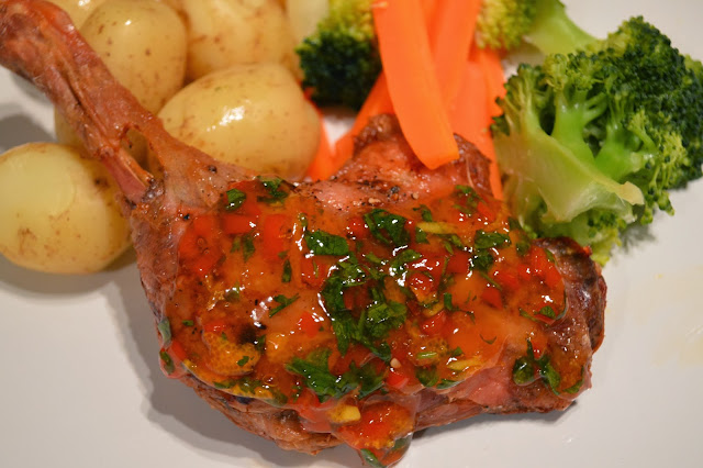 Orange & Chilli glazed duck leg