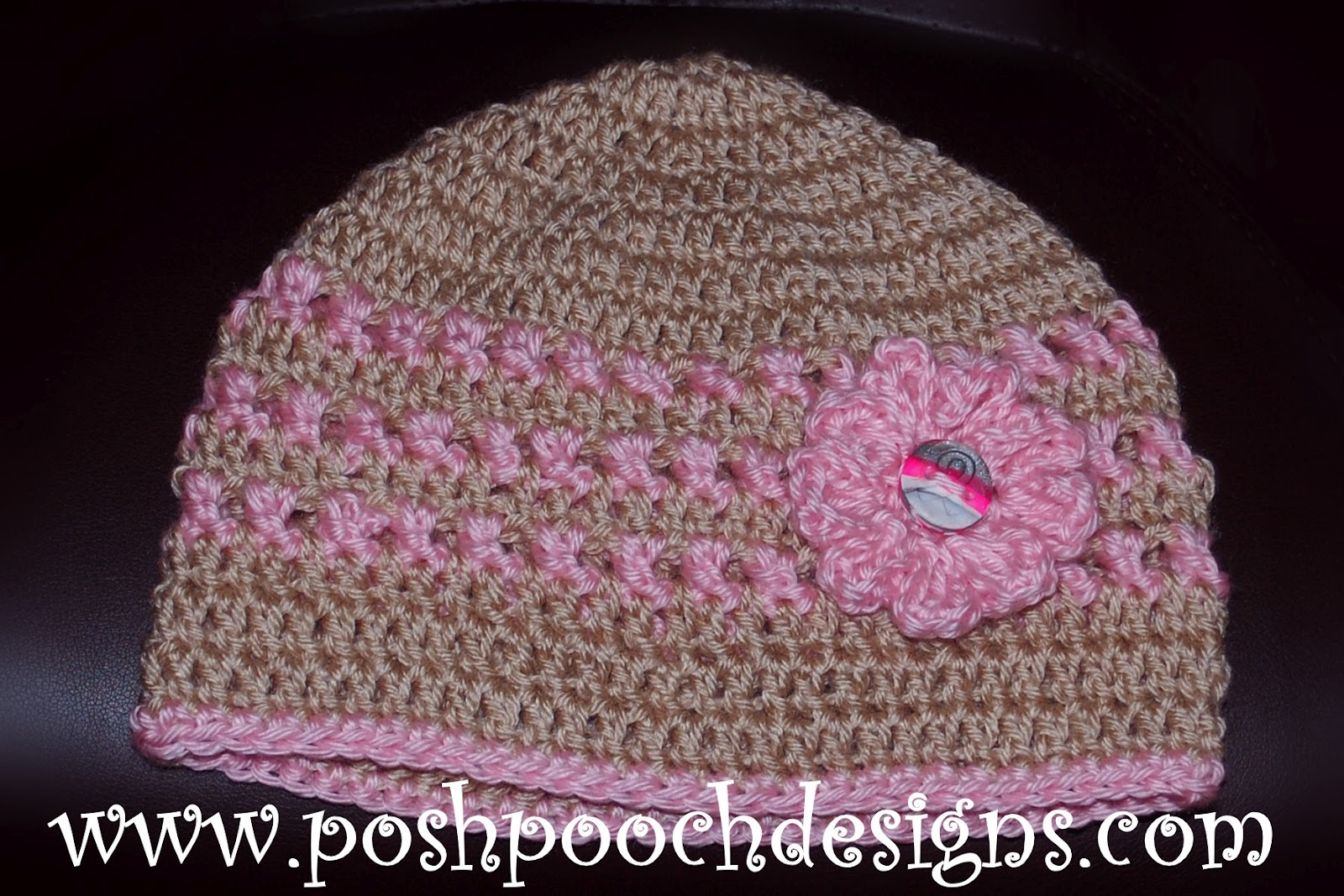 Posh Pooch Designs Dog Clothes Ann S Pink Ribbon Chemo Beanie