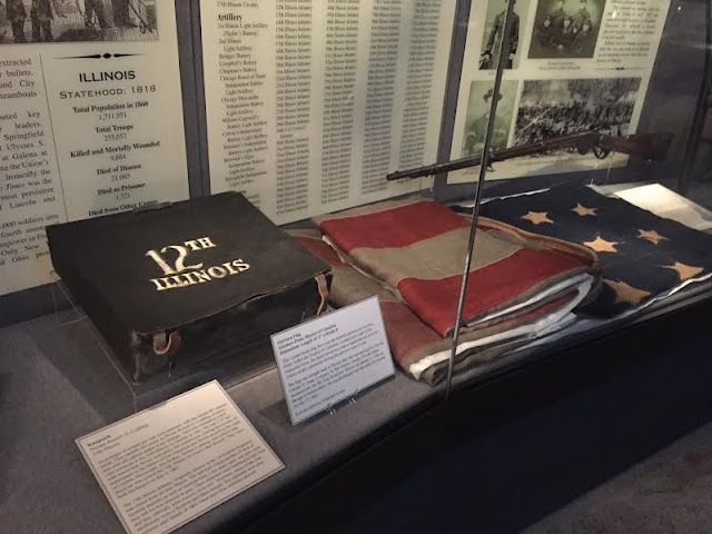 Civil War artifacts from Illinois regiments found at The Civil War Museum in Kenosha, WI.