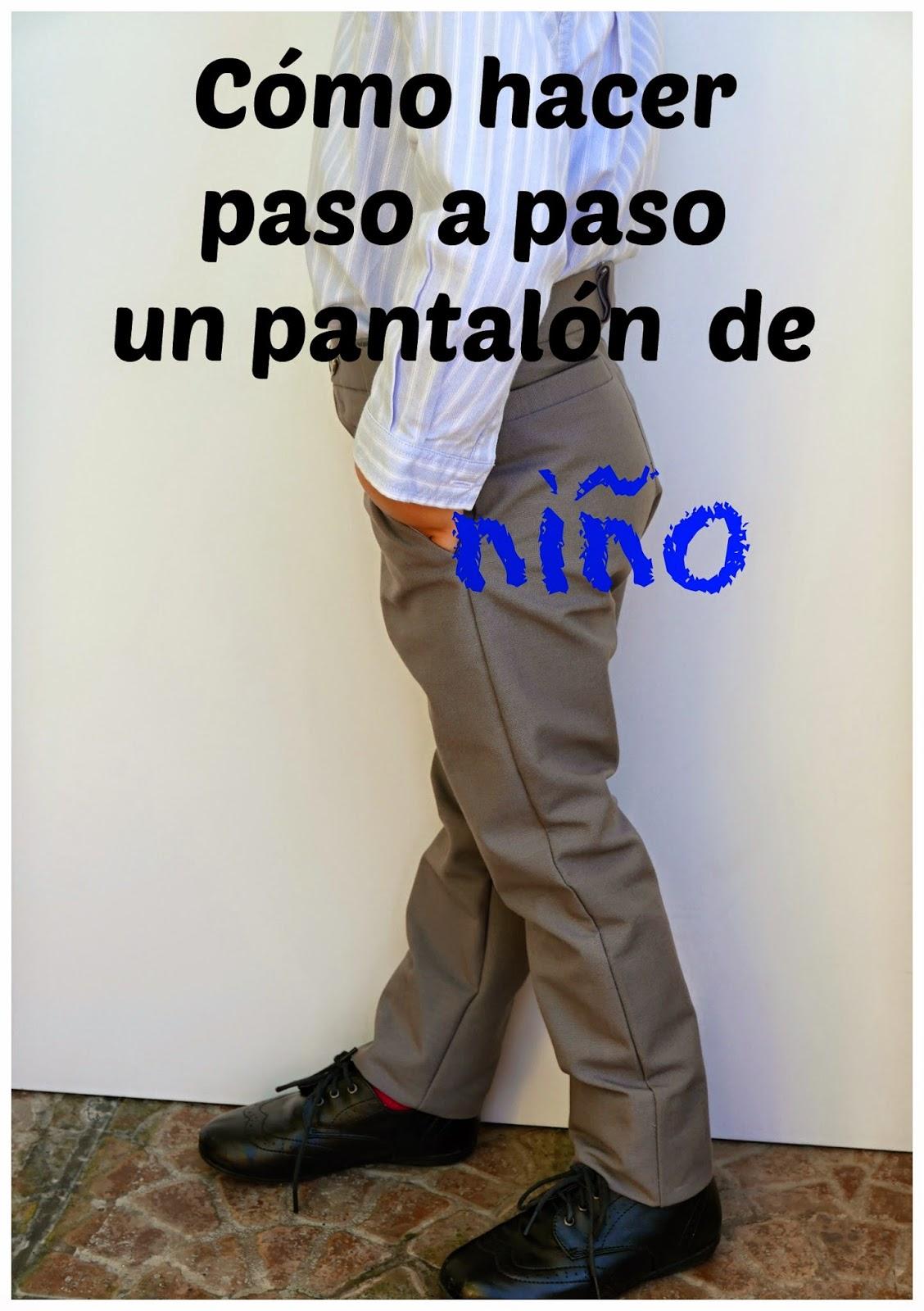 patrón pdf pantalon niño