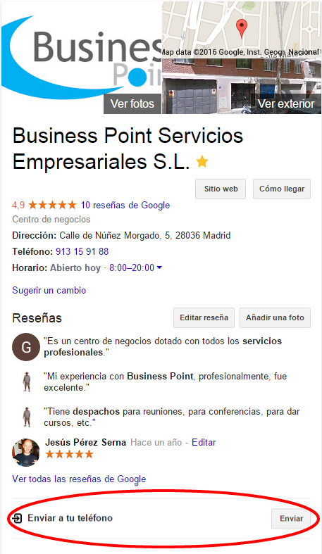 Business Point centro negocios chamartin