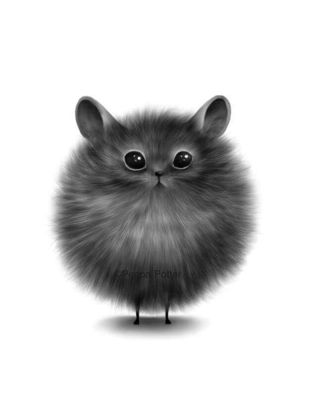 08-Round-Rat-Maria-Fluffy-Animals-in-Digital-Art-Creatures-www-designstack-co