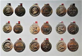 Medale Biegów Marszałka I - IX