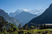 Manaslu oeste desde el circuito del Annapurna