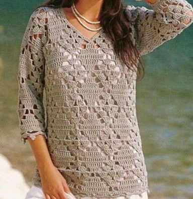 I loved this crochet blouse