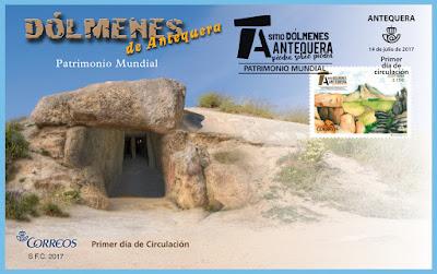 Filatelia - Patrimonio Mundial. Sitio Dólmenes de Antequera - Sobre Primer día de circulación - 14/07/2017