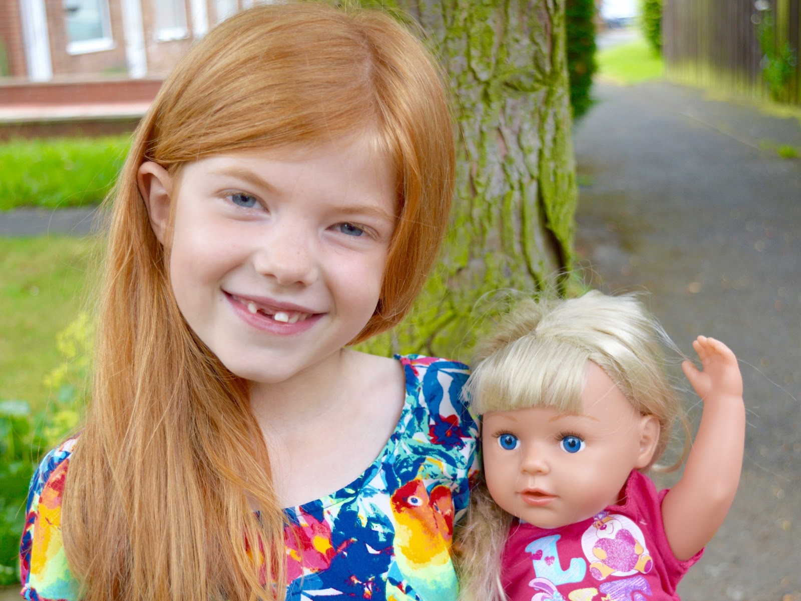 Heidi celebrates #nationalsistersday with her brand new Baby Born Sister Doll