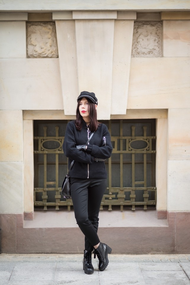 jak nosić total black blog modowy