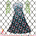 Gamis Misbee Black Motif Bunga - Rp 110.000