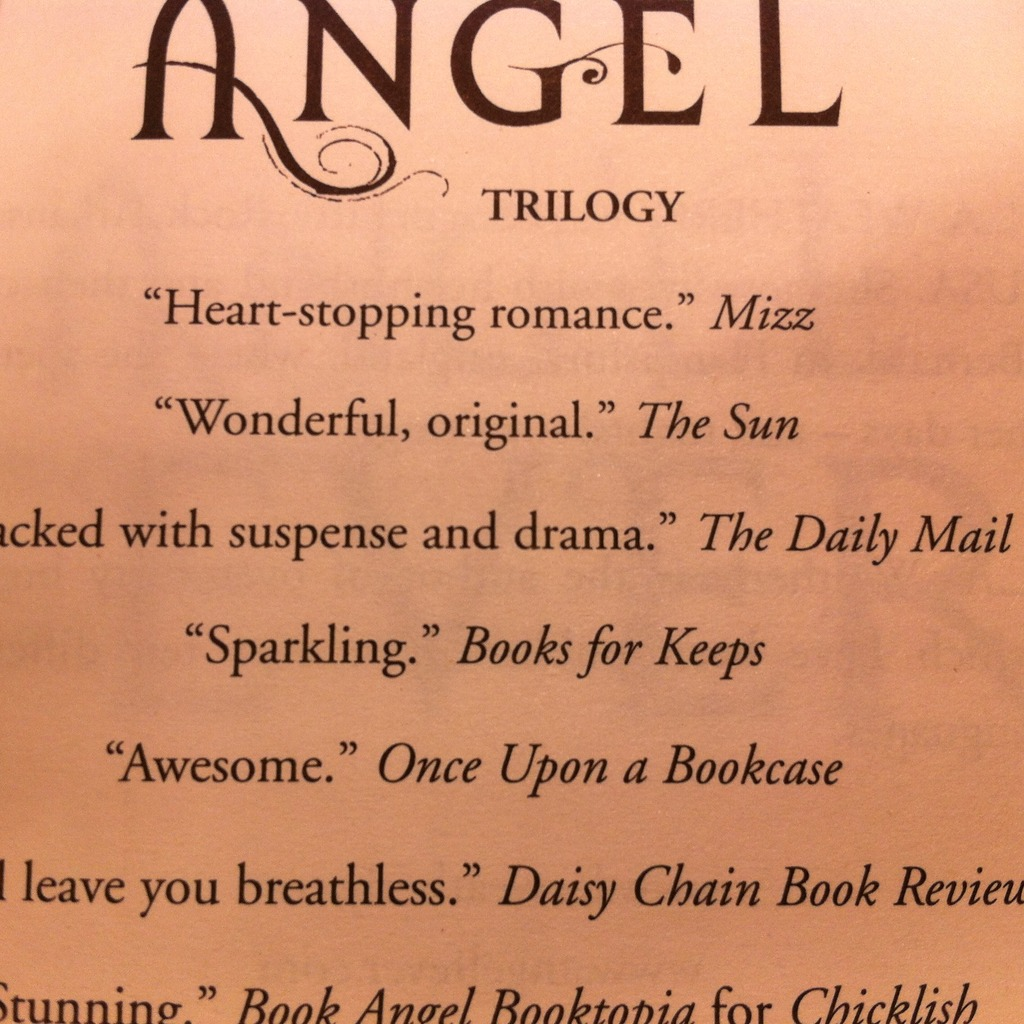 Quote in Angel Fever by L.A. Weatherly
