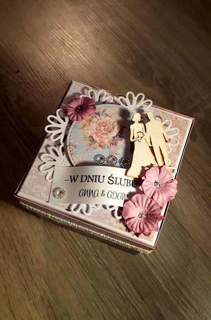 Pudełko 3D na ślub vintage