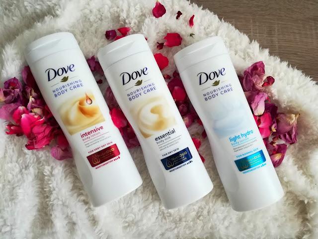 DOVE Nourishing Body Care - Light hydro, Intensive , Essential