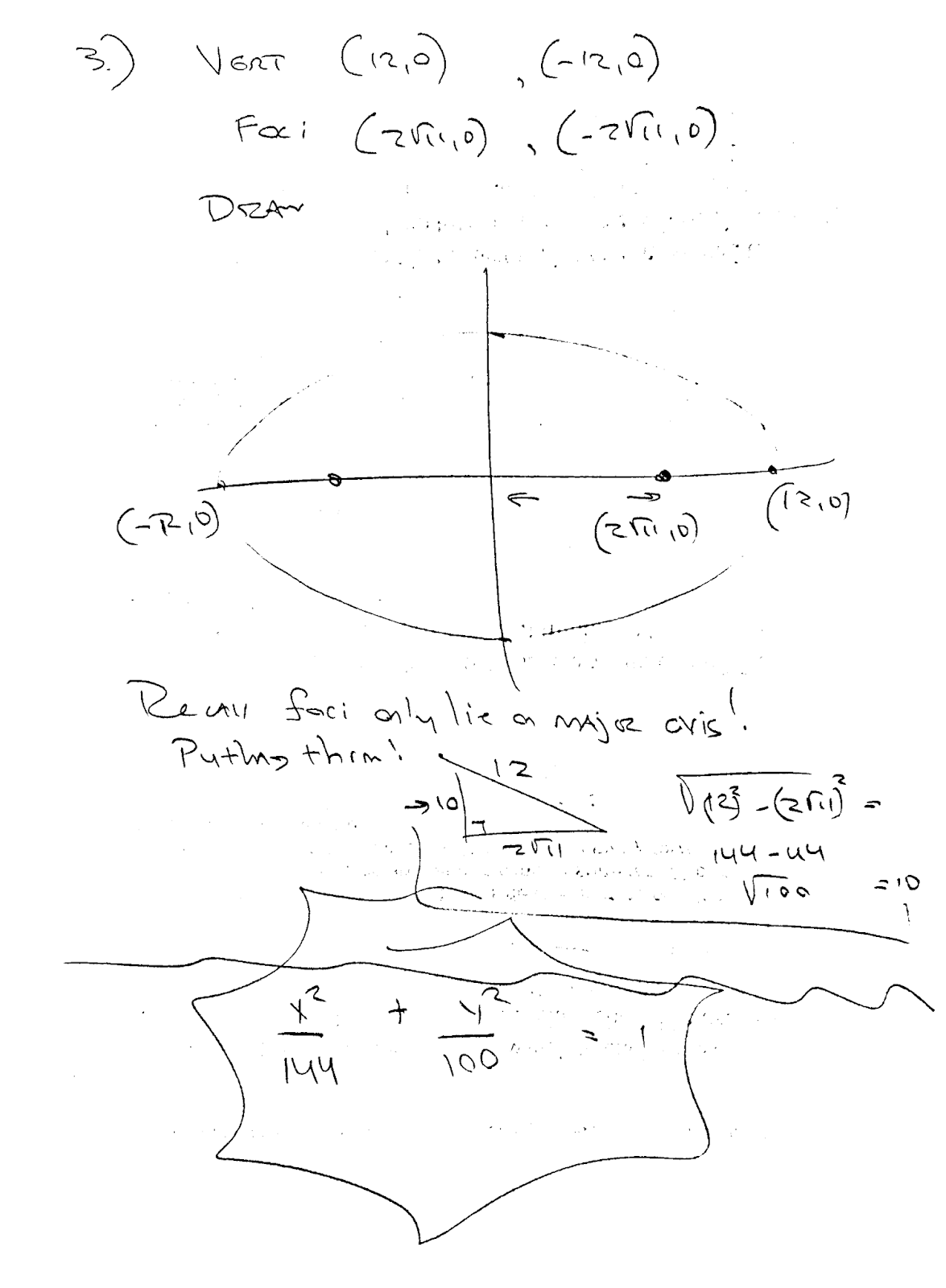 Spartan Math Conics Worksheet 1