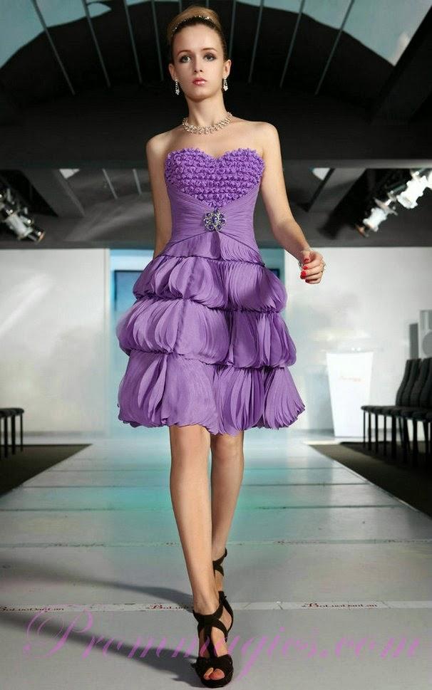 Increíble Largos Oscuros Vestidos De Dama De Color Púrpura Galería ...